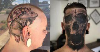20 тату на голове, которые могли сделать себе только «безбашенные» люди