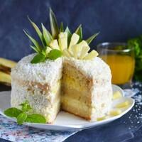 Торт Пина Колада с ананасом