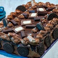 Бисквитный шоколадно ореховый торт