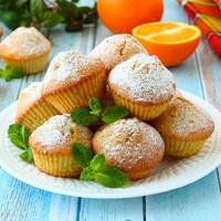 Апельсиновые кексы в духовке