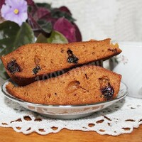 Чайный пирог из заварки с вареньем на скорую руку
