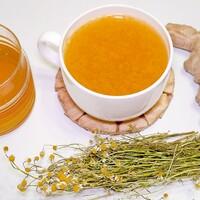 Имбирный чай с лимоном и ромашкой
