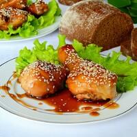 Куриные голени в соевом соусе на сковороде