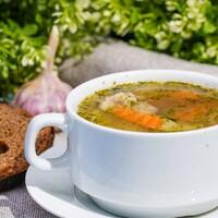 Грибной суп с гречкой и овощами