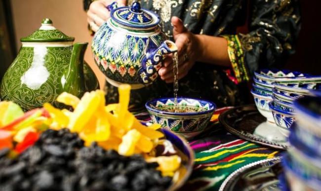 Чайная церемония в Узбекистане