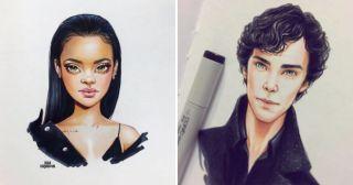 Русская художница рисует мультяшные версии звезд, и Сеть в восторге!