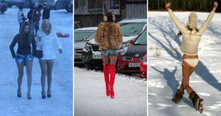 Ежегодный и необъяснимый народный весенний тренд: шуба и шорты