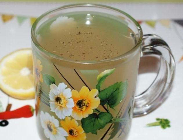 Имбирный чай с имбирем, мятой и лимоном для похудения