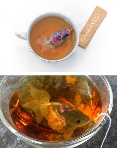 креативные чайные пакетики, необычный чай